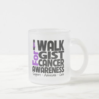 I Walk For GIST Cancer Awareness 10 Oz Frosted Glass Coffee Mug