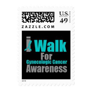 I Walk For Gynecologic Cancer Awareness Postage Stamps
