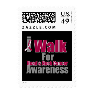 I Walk For Head and Neck Cancer Awareness Postage Stamp
