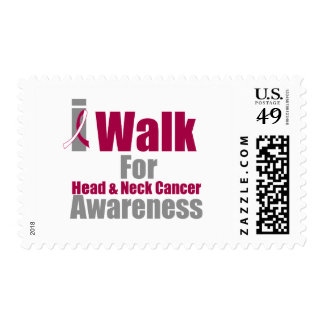 I Walk For Head and Neck Cancer Awareness Stamp