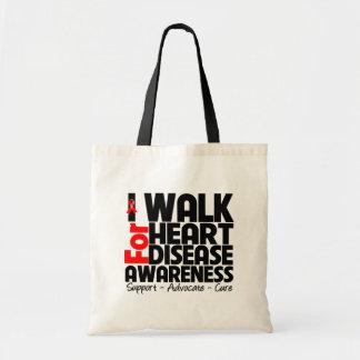 I Walk For Heart Disease Awareness Bag