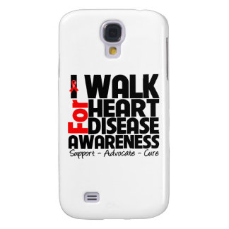 I Walk For Heart Disease Awareness Samsung Galaxy S4 Case