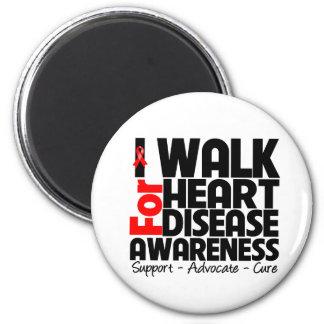 I Walk For Heart Disease Awareness Fridge Magnet