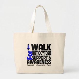 I Walk For Histiocytosis Awareness Canvas Bags