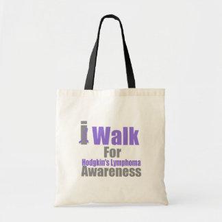 I Walk For Hodgkin's Lymphoma Awareness Tote Bags