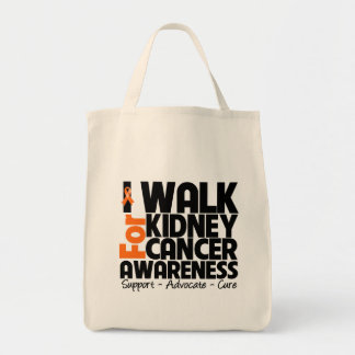 I Walk For Kidney Cancer Awareness 2 Grocery Tote Bag
