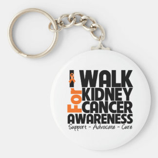 I Walk For Kidney Cancer Awareness 2 Basic Round Button Keychain