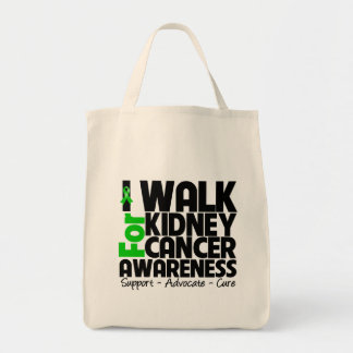 I Walk For Kidney Cancer Awareness Grocery Tote Bag