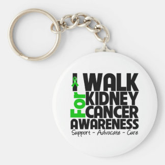 I Walk For Kidney Cancer Awareness Basic Round Button Keychain