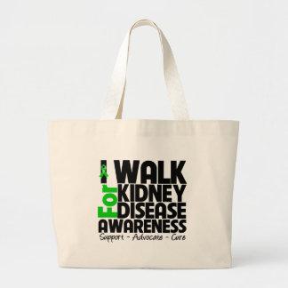 I Walk For Kidney Disease Awareness Canvas Bag