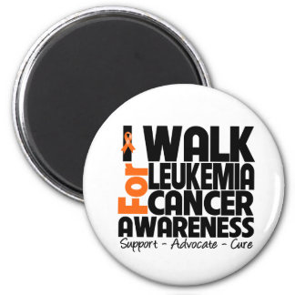 I Walk For Leukemia Cancer Awareness Refrigerator Magnet