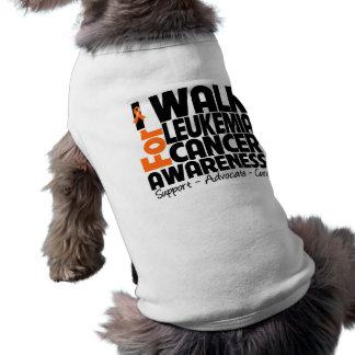 I Walk For Leukemia Cancer Awareness Pet Shirt
