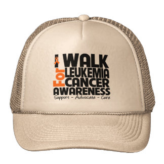 I Walk For Leukemia Cancer Awareness Trucker Hat