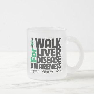 I Walk For Liver Disease Awareness 10 Oz Frosted Glass Coffee Mug