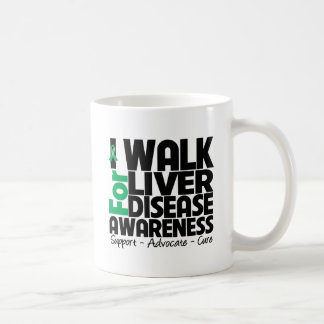 I Walk For Liver Disease Awareness Classic White Coffee Mug