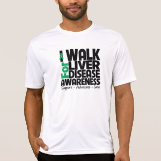 I Walk For Liver Disease Awareness Tee Shirt