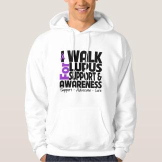 I Walk For Lupus Awareness Hooded Sweatshirts