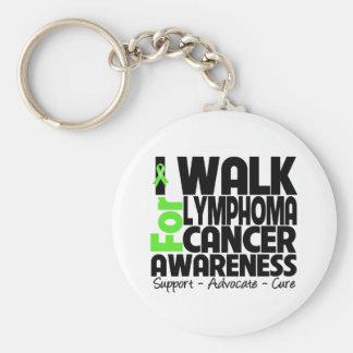 I Walk For Lymphoma Cancer Awareness Basic Round Button Keychain