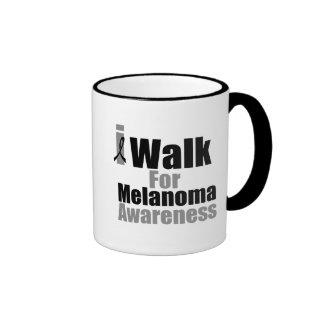 I Walk For Melanoma Awareness Ringer Mug