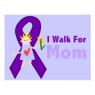 I Walk For Mom Alzheimer's Gift Postcard