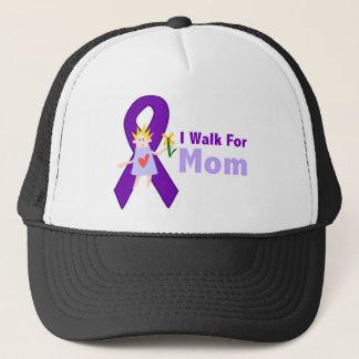 I Walk For Mom Alzheimer's Gift Trucker Hat