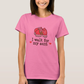I Walk For My Aunt Breast Cancer Long Sleeve Tee