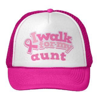 I Walk For My Aunt Mesh Hats