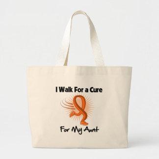 I Walk For My Aunt - Leukemia Jumbo Tote Bag