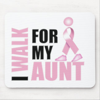 I Walk for my Aunt Pink Mouse Pad