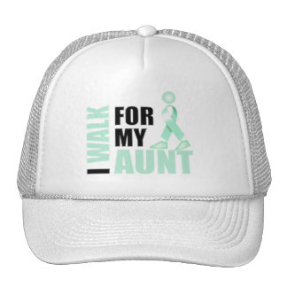 I Walk for my Aunt teal Trucker Hat