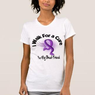 I Walk For My Best Friend - Purple Ribbon T-shirt