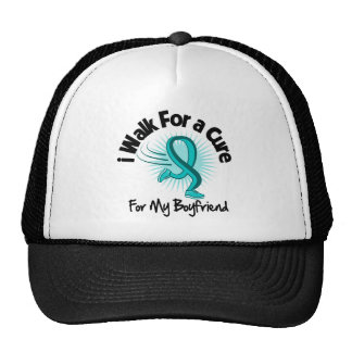 I Walk For My Boyfriend - Teal Ribbon Trucker Hat
