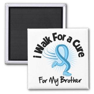 I Walk For My Brother - Prostate Cancer Refrigerator Magnet
