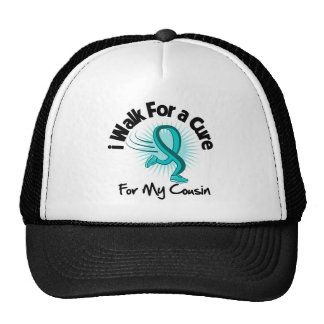 I Walk For My Cousin - Teal Ribbon Trucker Hat
