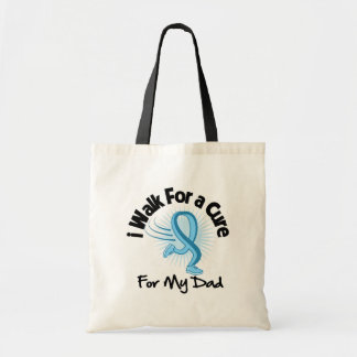 I Walk For My Dad- Prostate Cancer Budget Tote Bag