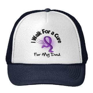 I Walk For My Dad- Purple Ribbon Trucker Hat