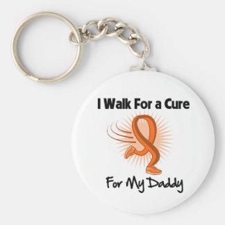 I Walk For My Daddy - Leukemia Basic Round Button Keychain