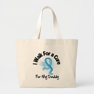 I Walk For My Daddy - Prostate Cancer Jumbo Tote Bag