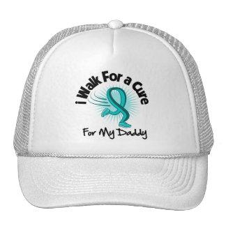 I Walk For My Daddy - Teal Ribbon Trucker Hat