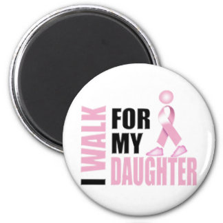 I Walk for my Daughter pink 2 Inch Round Magnet