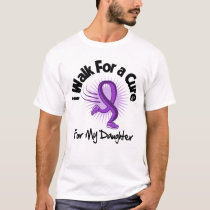 I Walk For My Daughter - Purple Ribbon T-Shirt