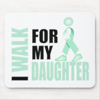 I Walk for my Daughter teal Mouse Pad