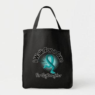 I Walk For My Daughter - Teal Ribbon Tote Bags