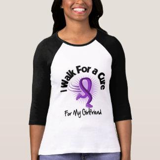 I Walk For My Girlfriend - Purple Ribbon Tshirts