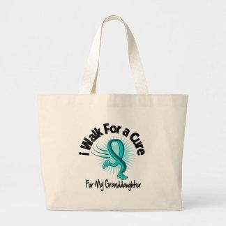 I Walk For My Granddaughter - Teal Ribbon Tote Bag