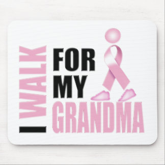 I Walk for my Grandma pink Mouse Pad