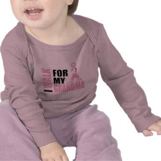 I Walk for my Grandma pink Shirt
