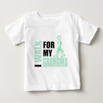 I Walk for my Grandma teal Baby T-Shirt