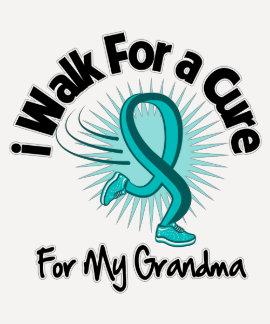 I Walk For My Grandma - Teal Ribbon Dresses