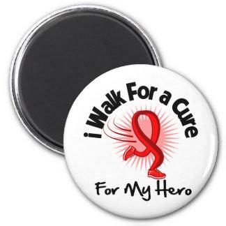 I Walk For My Hero - Heart Disease 2 Inch Round Magnet